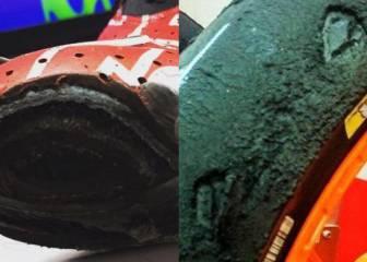 Así acabaron la bota y la rueda de Pedrosa: