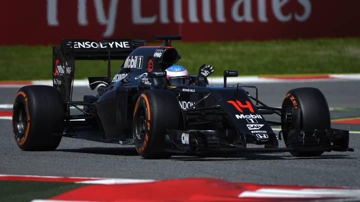 Alonso ha dado con el McLaren 359 vueltas más que en 2015