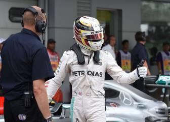 Hamilton sale desde la pole; Sainz, 16º y Alonso, último