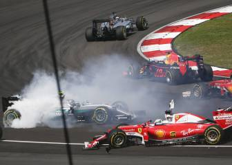 Vettel explica su accidente con Rosberg y señala a Verstappen