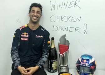 Ricciardo se regala pollo para cenar tras su victoria en Sepang