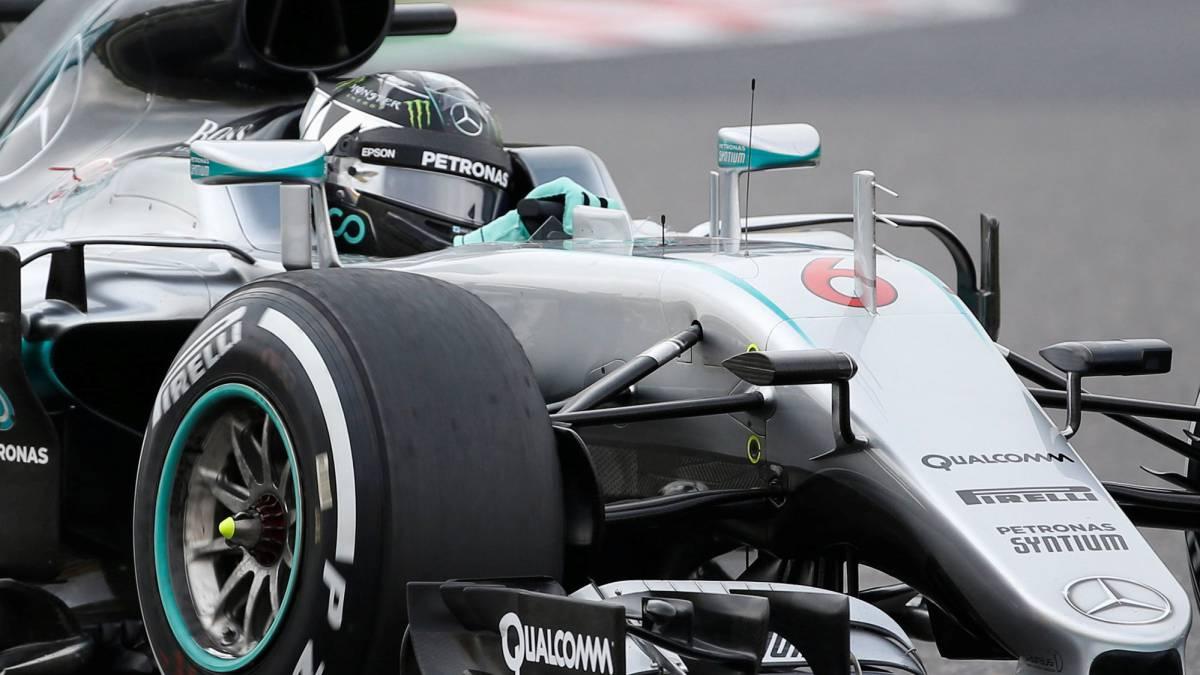 Rosberg gana la pole a Hamilton y Sainz y Alonso se quedan en Q2.
