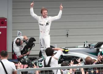 Rosberg gana y es más líder, Alonso es 16º y Sainz 17º