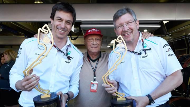 """Brawn: """"Dejé Mercedes al no poder confiar en Lauda y Wolff"""""""