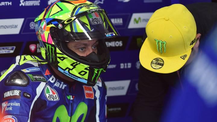 """Rossi: """"No se puede rodar con estas motos a diez grados""""."""