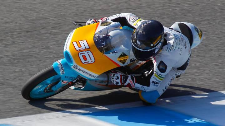 Bandera roja en Moto3 por fea caída de Juanfran Guevara