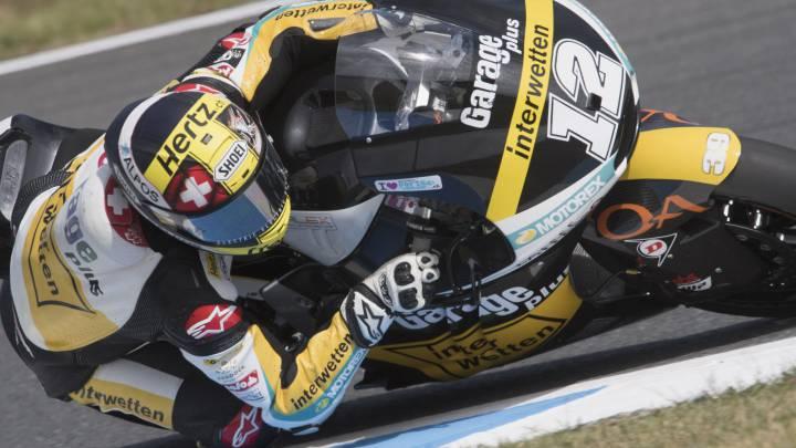 Pole de Luthi, dura caída de Álex Márquez y Rins 16º y sin gasolina.