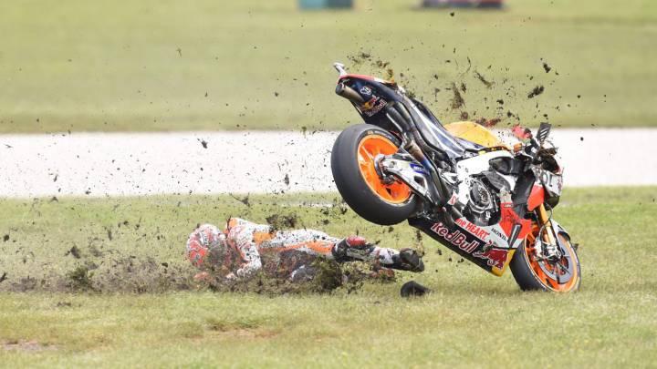 Las imágenes de las caídas del GP de Australia