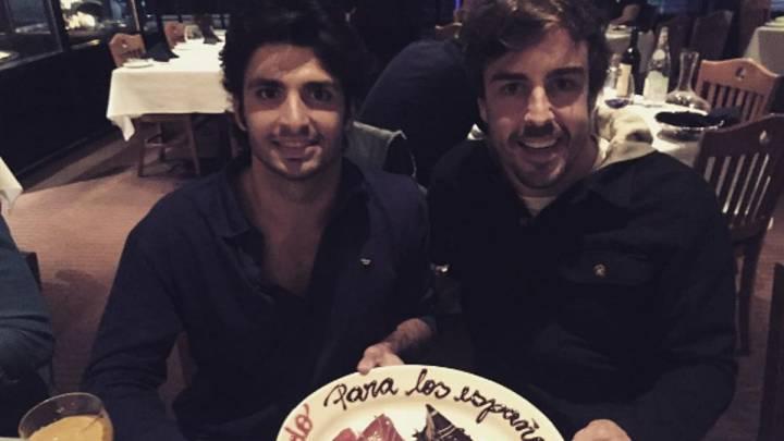 """Sainz: """"Alonso es el mejor, ojalá yo sea un digno sucesor""""."""