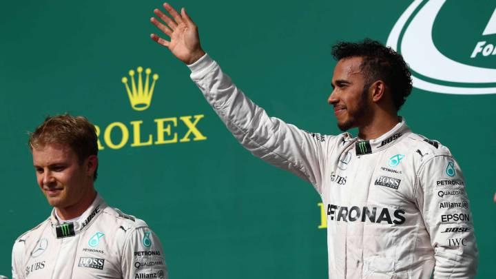 """Hamilton, sobre el duelo con Rosberg en la F1 de México: """"Cuando te rindes es cuando pierdes"""""""