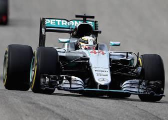 Hamilton empieza mandando en México, Sainz 12º y Alonso 14º