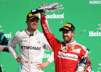 Vettel pierde el podio, Daniel Ricciardo es tercero en México