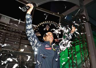 Ricciardo celebró su podio en México de noche y sin público