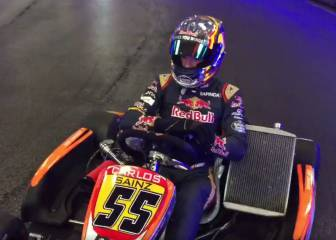 Sainz y su clase magistral: ¡Así se conduce un kart al límite!