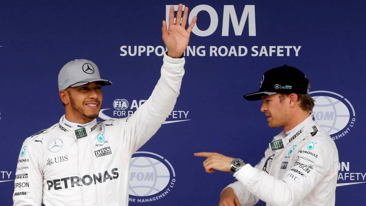 """Hamilton y Rosberg se citan """"en la primera curva"""""""