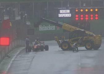 Hubo bandera roja en Brasil por un accidente de Kimi Raikkonen
