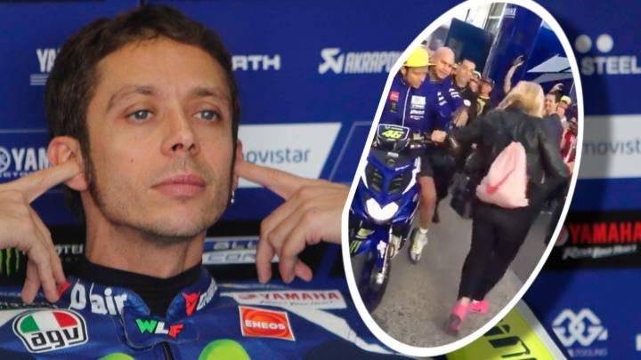 La aficionada quiere denunciar a Rossi, que le pide disculpas