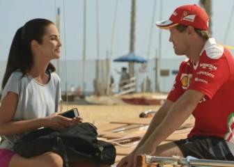Sebastian Vettel cambia el circuito por la playa