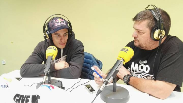 Marc Márquez estuvo en El Larguero de la Cadena SER con Mela Chércoles. Pasó revista al Mundial de MotoGP.