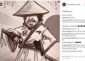 Fernando Alonso comparte en las redes su versión samurái