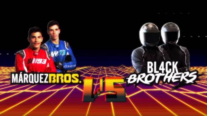 Los Márquez Bros., Marc y Álex Márquez, contra los Bl4ck Brothers.