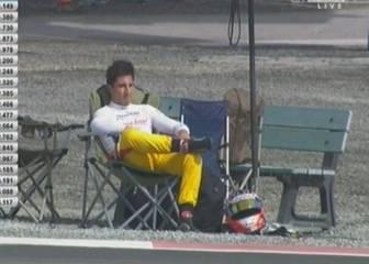 Mitch Evans sufrió una avería e hizo 'un Alonso' en Abu Dhabi
