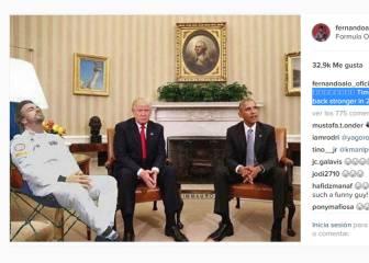 Alonso 'se duerme' entre Trump y Obama a la espera de 2017