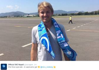El Nápoles felicita por el título a su 'tifoso' de la F-1: Rosberg