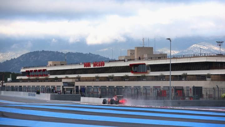 Sebastian Vettel durante el test de F1 que se llevó a cabo en el circuito Paul Ricard a comienzos de año.