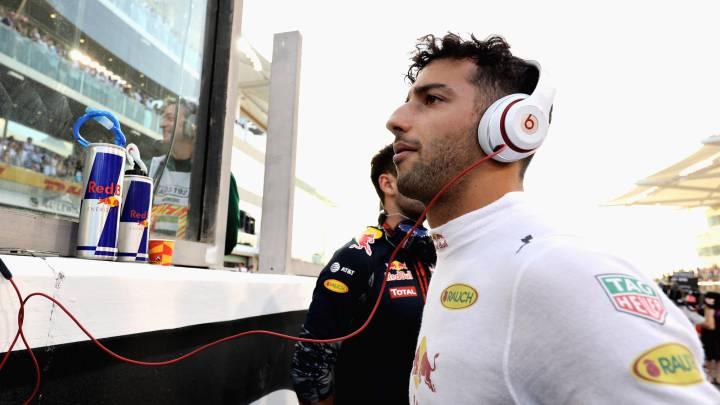 Daniel Ricciardo en la parrilla del GP de Abu Dhabi.