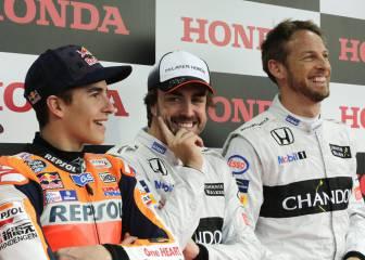 Alonso, en la fiesta de Honda: