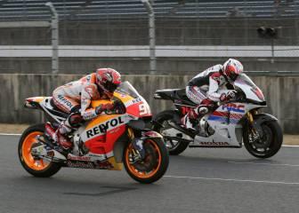 Alonso corrió con Márquez sobre la MotoGP en Motegi
