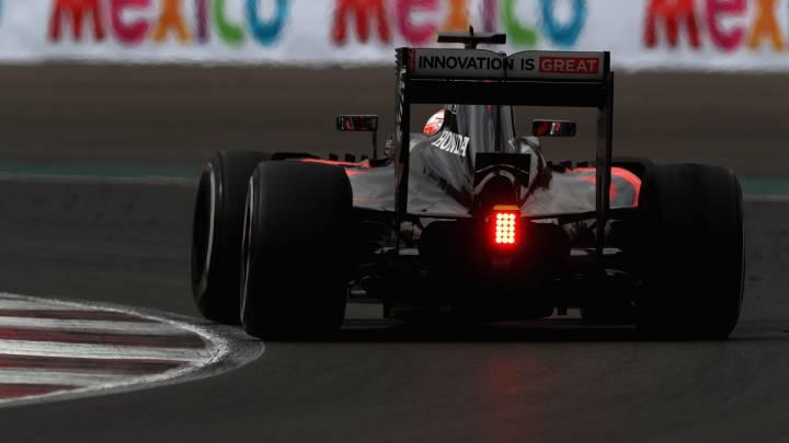 La parte trasera del McLaren de 2016, donde se aloja el motor de Honda.