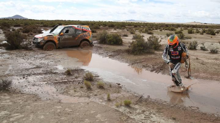 También se recorta la octava etapa del Dakar por las lluvias