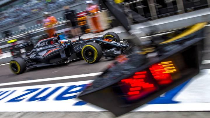 El McLaren Honda de Fernando Alonso en 2016.