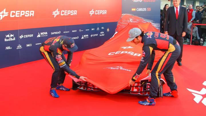 Presentación de Toro Rosso en 2016.