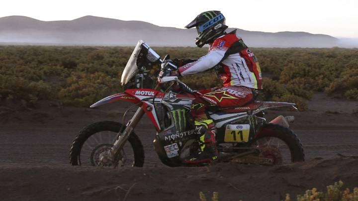 Joan Barreda durante la octava etapa del Rally Dakar.