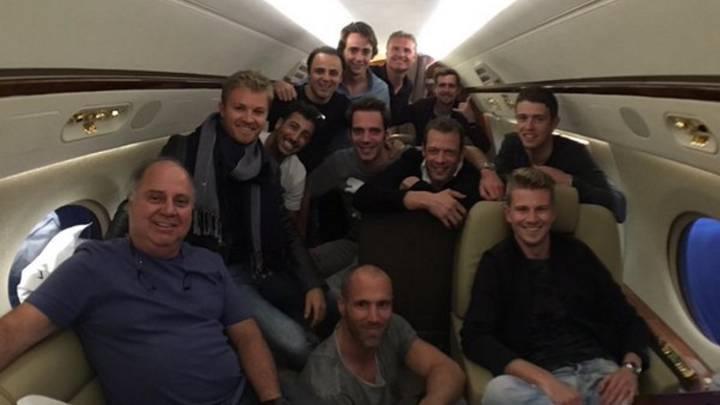 Hulkenberg echará de menos a Rosberg... por su avión privado