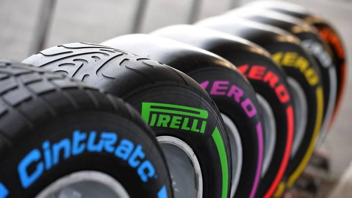 Gama completa de neumáticos Pirelli.
