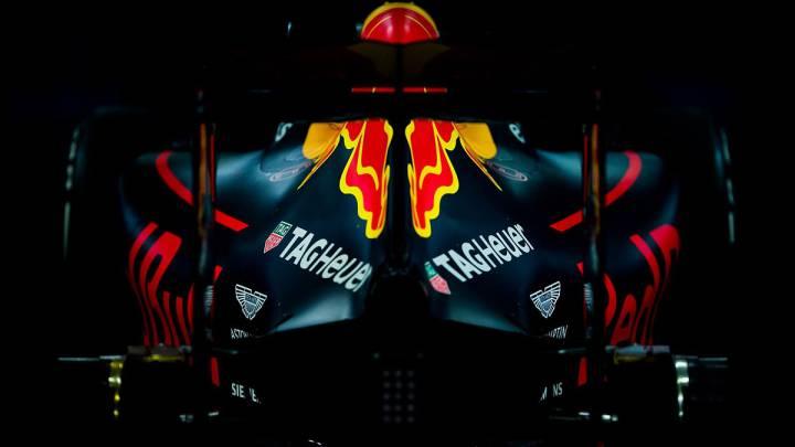 Imagen de la parte trasera del Red Bull de 2016, donde está situado el motor Renault.