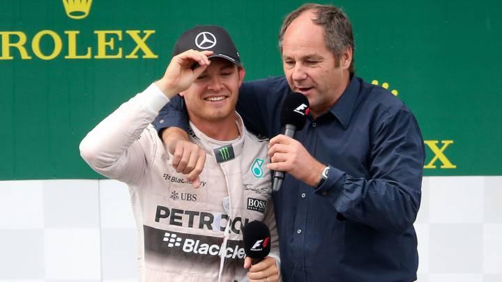Nico Rosberg con Gerhard Berger.