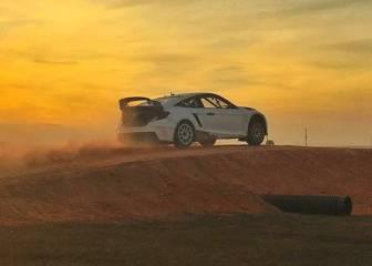 Button se acerca al Rallycross: prueba un Honda Civic en EEUU