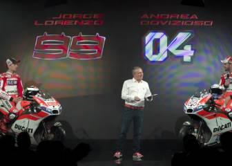 Lorenzo se presentó con Ducati y ya luce la Desmosedici GP17