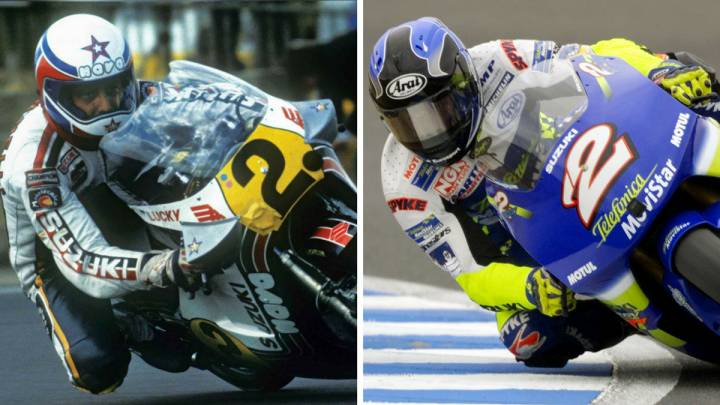 Marco Lucchinelli y Kenny Roberts Jr.