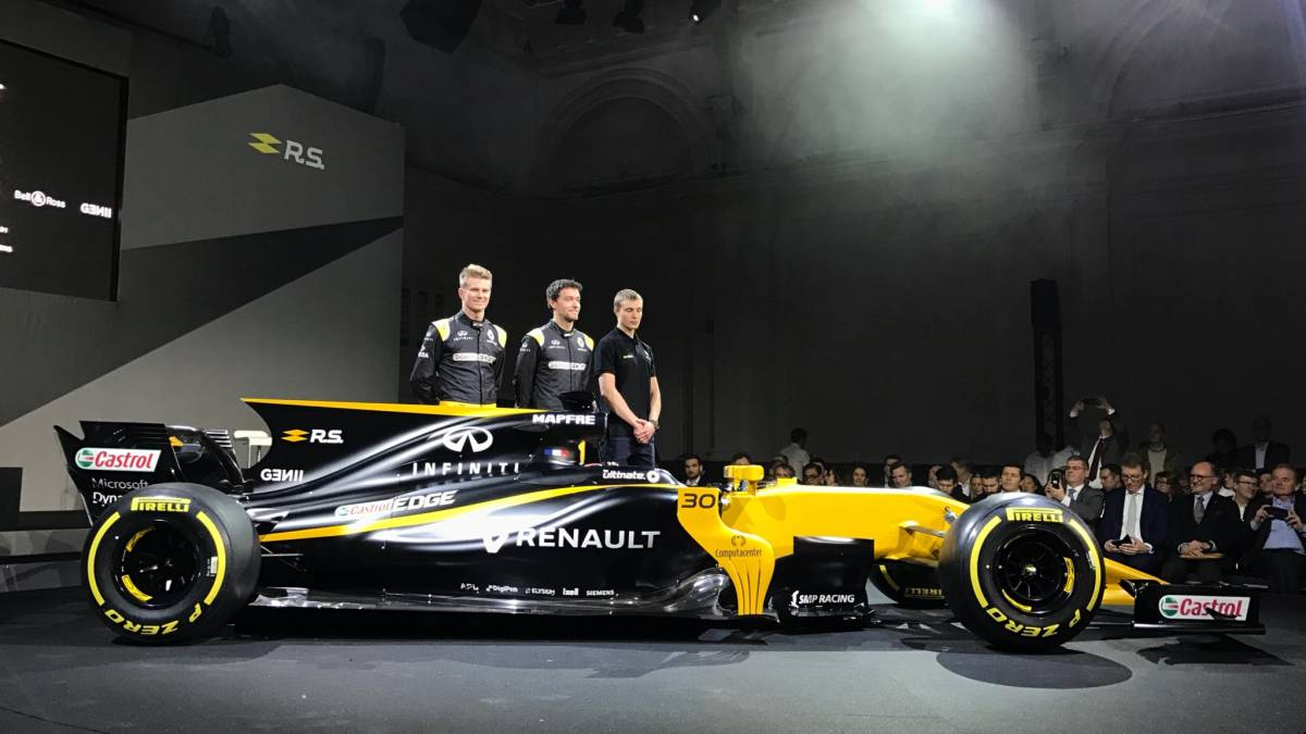 formula one rs17 f1 team renault unveil new car for. Black Bedroom Furniture Sets. Home Design Ideas
