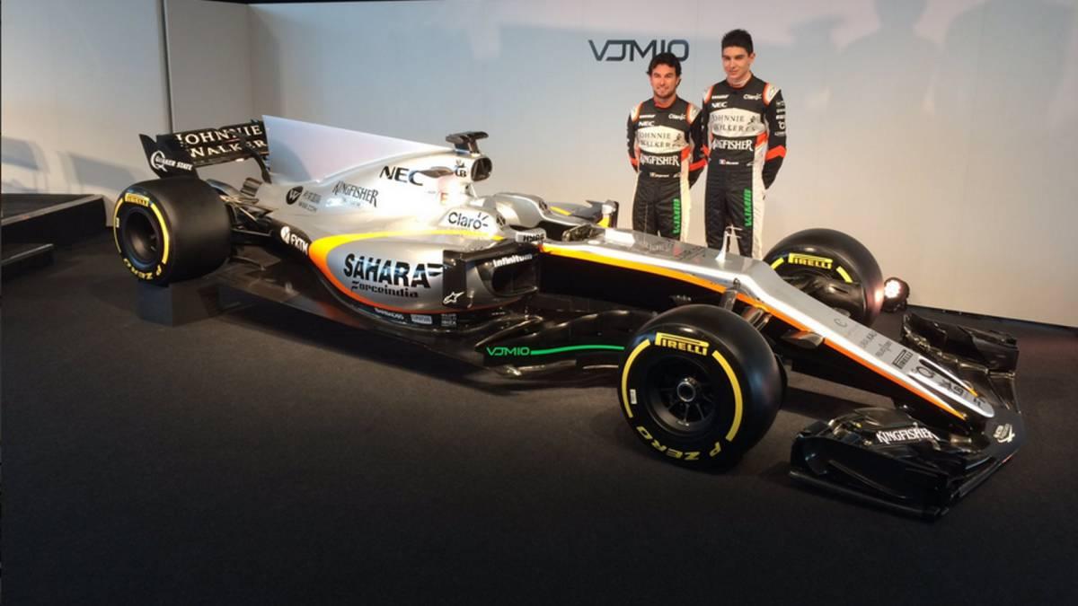 Force India enseña su décimo monoplaza en la F1: el VJM10