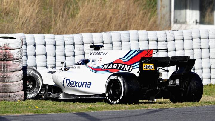 Accidente de Lance Stroll con el Williams.