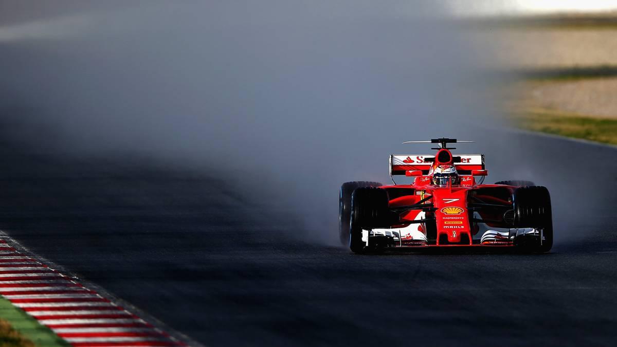 Resultado de imagen para Kimi Raikkonen ferrari barcelona 2017