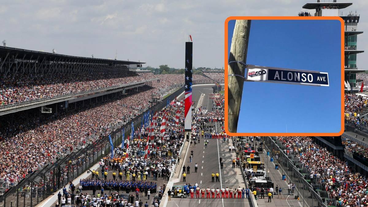Fernando Alonso tiene una calle en el circuito de Indianápolis.