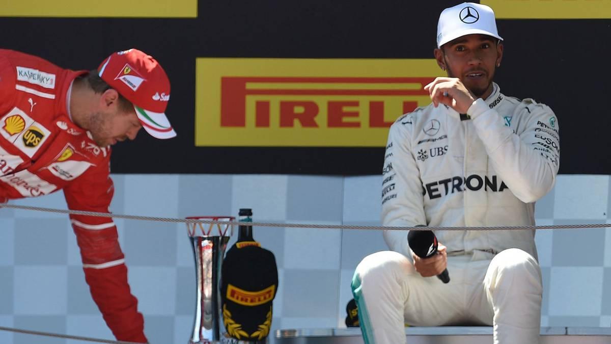 F1   Hamilton renunció a beber agua para ganar a Vettel en Montmeló - AS.com
